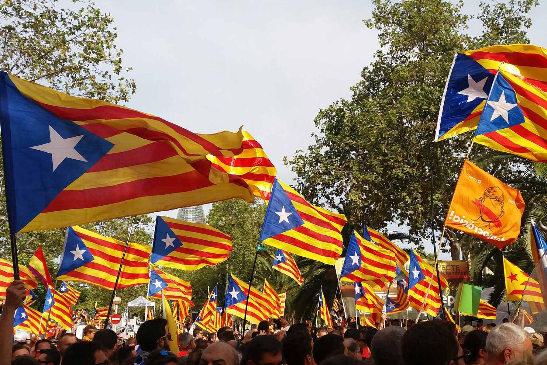 11. SeptemberKatalanischer Unabhängigkeitstag: Das sagen Teilnehmer vor Ort.