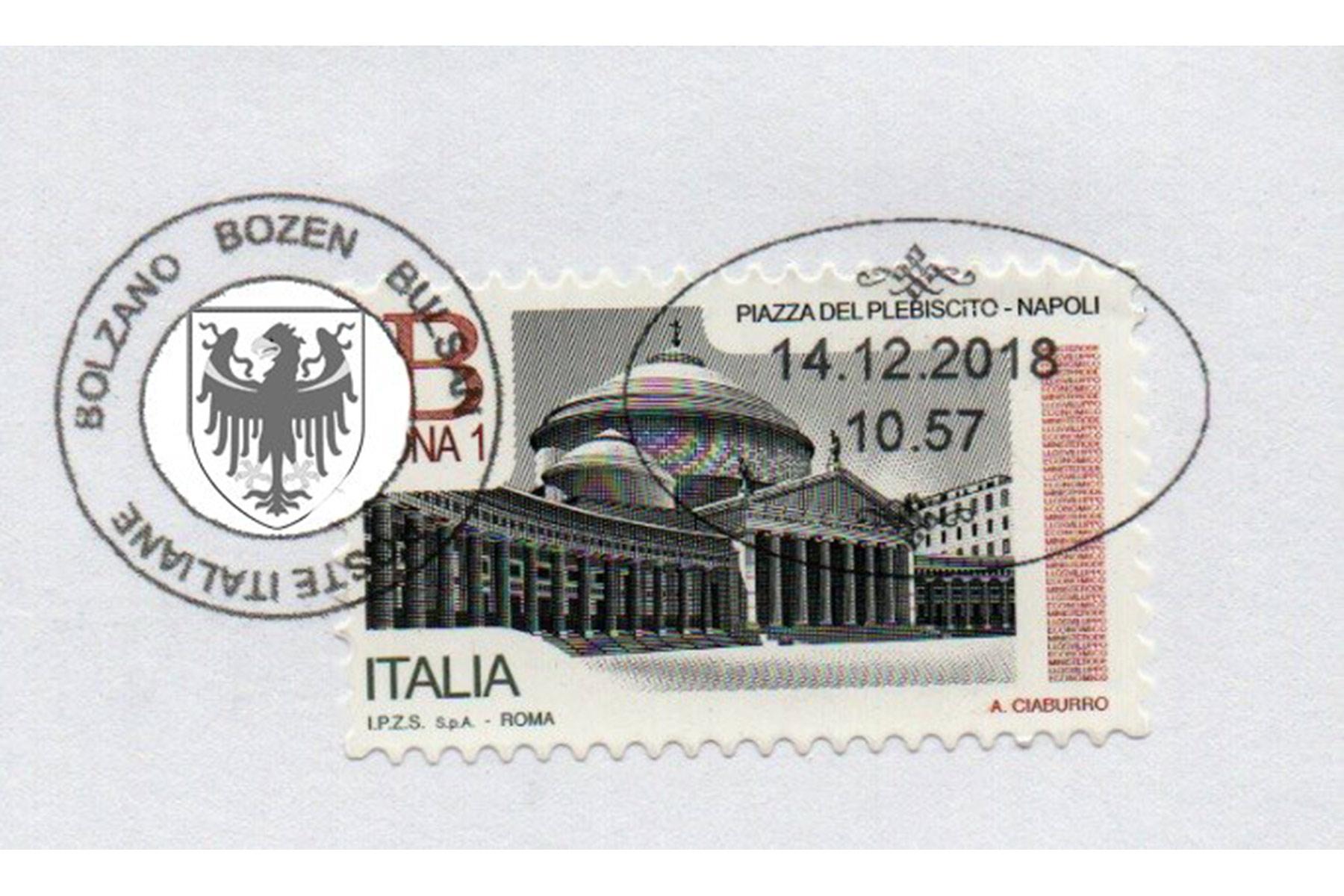 Südtiroler HeimatbundPoststempel mit Landesadler verschönern